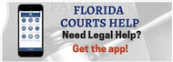 click Florida Courts Help banner to visit the web site